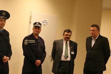 Судейская комната после матча была надежно оцеплена милицией