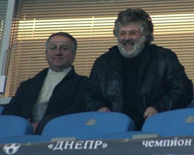 Игорь Коломойский до матча был весел и благодушен……а в ходе игры очень разозлился