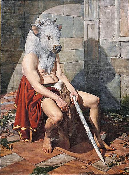 «Минотавр». Картина современного художника Поля Рейда.