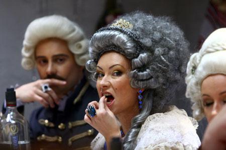 Императрица Гришаева и ее экранный возлюбленный - актер Антон Макарский.