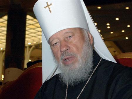 Митрополит Владимир благословил Януковича прямо перед визитом политика в «Комсомолку».