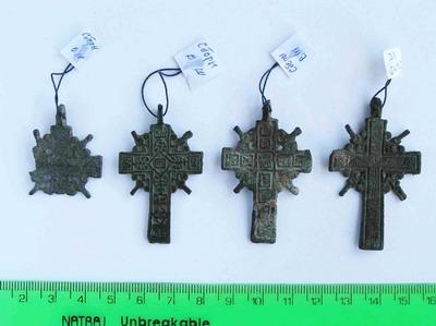 Нательные кресты строителей Богородицкой крепости.