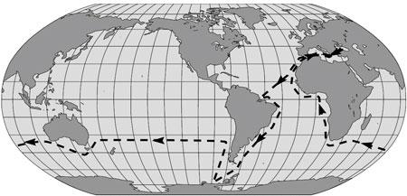 Маршрут следования яхты: Украина - Бразилия - Антарктика - Чили - Австралия - Порт Кейптаун (Южная Африка) - Средиземное море - Украина.