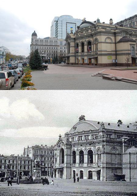 Здание Оперного театра за сто лет практически не изменилось.