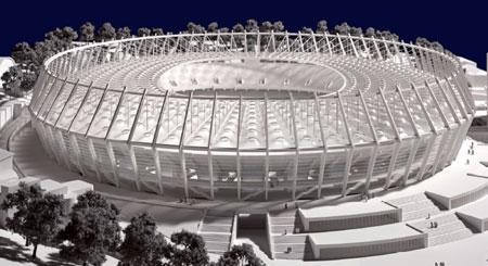 «Олимпийский». Дата сдачи - июнь 2010. Вместимость - 69004.