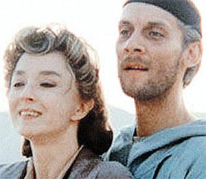 Кадр из фильма, который мы пока так и не увидели, - «Мастер и Маргарита». Исполнители главных ролей Анастасия Вертинская и Виктор Раков.