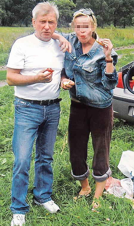 Лето 2008 года. Брат Примадонны со своей бывшей гражданской женой Любой.