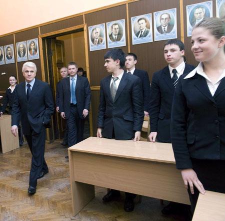 Во время встречи с учащимися Кировоградского областного учебно-воспитательного комплекса.