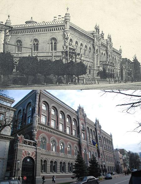 3-й и 4-й этажи в здании главного банка Украины появились в 30-е годы.