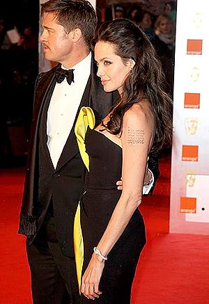 Питт и Джоли на BAFTA Awards. Фото: wwd.com.