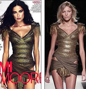 Фото Деми Мур на обложке журнала W как две капли воды похоже на снимок польской модели Ани Рубик.