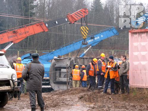 На месте катастрофы идут восстановительные работы.Фото: Александр КОЦ
