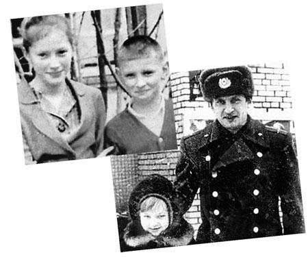В детстве Алла Пугачева была неразлучна с младшим братом. Потом Евгений Борисович дослужился до полковника. На нижнем фото справа: Пугачев с племянницей Кристиной.