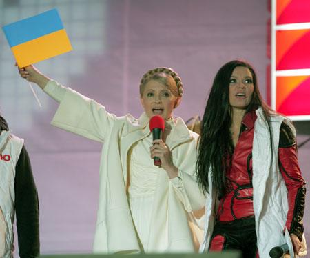 Руслана и Тимошенко спелись по многим жизненным позициям.