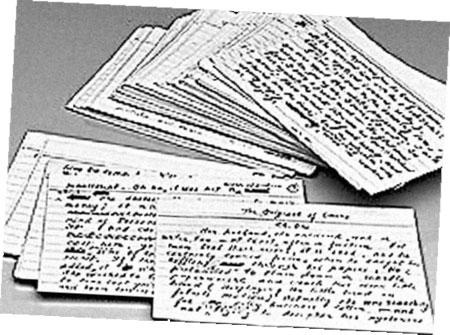 Рукопись «Лауры» - это 138 библиотечных карточек.