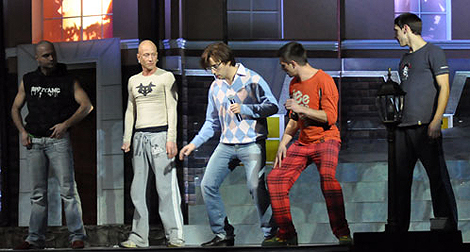 Максим Галкин исполнил «Брачный танец гамадрила».