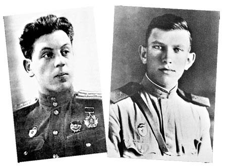 Василий Сталин (на фото слева), самолет которого был вынужден приземлиться на минное поле, уцелел благодаря саперу Язвинскому.
