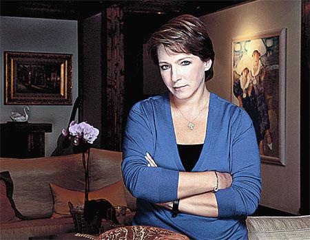 Татьяна Борисовна у себя дома.