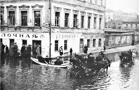 XIX век. Подол. На своем веку Киев пережил много наводнений.