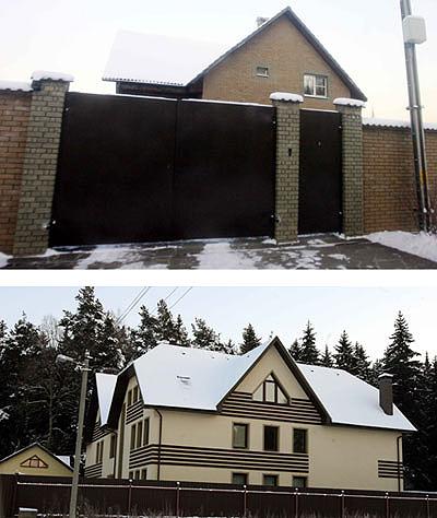 Этот большой дом (на фото вверху) Хабенский строил вместе с женой. А год назад ему пришлось переехать в съемный коттедж поскромнее (на фото снизу).