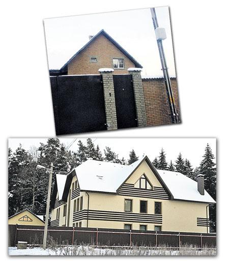 Этот большой дом (на фото внизу) Хабенский строил вместе с женой. А год назад ему пришлось переехать в съемный коттедж поскромнее (на фото вверху).