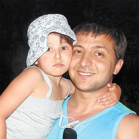 Зеленский пока не хочет снимать дочь Сашеньку в кино.