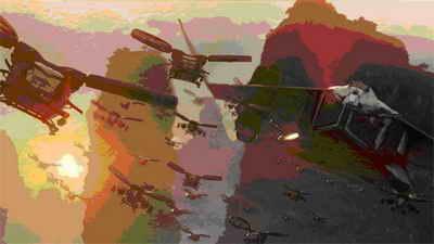 """Боевые летательные аппараты в фильме """"АВАТАР"""" футуристичны, они должны казаться столь же знакомыми, как вооруженные вертолеты Huey времен Вьетнамской войны"""