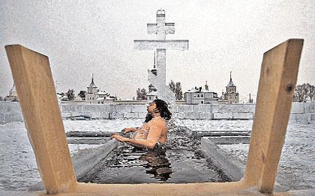 Иордань - прорубь в виде креста, названная так в честь реки Иордан, в водах которой крестили Иисуса.