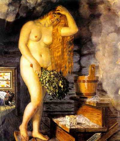 Парилка издавна вдохновляла даже художников.