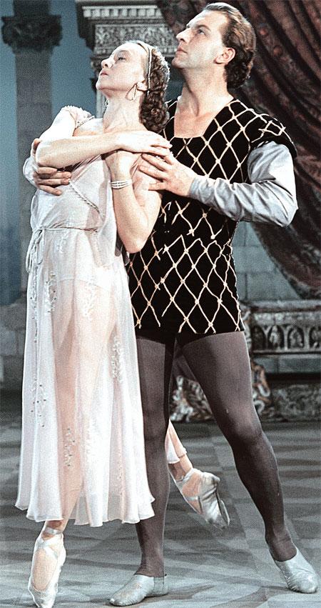 Одна из самых великолепных партий Улановой - Джульетта в «Ромео и Джульетте».