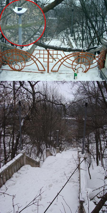 Сегодня прогулки по «Лестнице разбитых фонарей» чреваты увечьями. А почти сто лет назад по ней паломники спускались к Крещатикскому источнику.