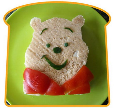Бутерброд-Винни-Пух. Фото: Funkylunch.com