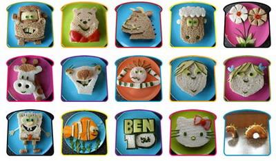 Бутербродики, придуманные им для детей, Марк фотографирует и помещает на своем сайте. Фото: Funkylunch.com