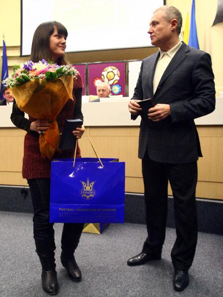 Алину Горобец поздравил с титулом лучшей футзалистки в мире президент Федерации футбола Украины Григорий Суркис.