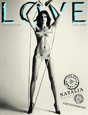Наталья Водянова. Фото: LOVE magazine.
