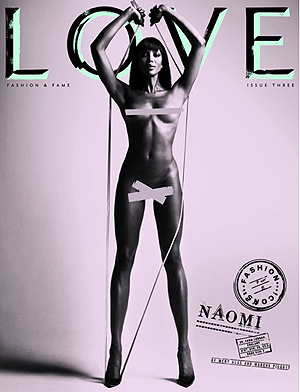 Наоми Кэмпбелл. Фото: LOVE magazine.