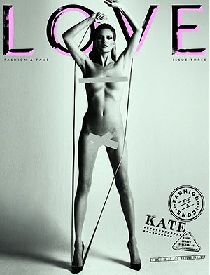 Кейт Мосс. Фото: LOVE magazine.
