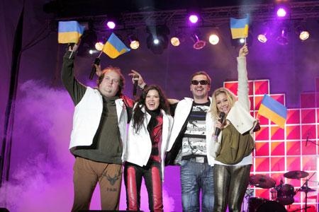 За четыре месяца участники акции «С Украиной в сердце» собрали на площадях страны более 3 млн зрителей.
