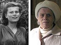 Евгения Шульгина в 1945 году (фото слева) и в наши дни.