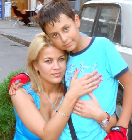 С сыном Виталием.
