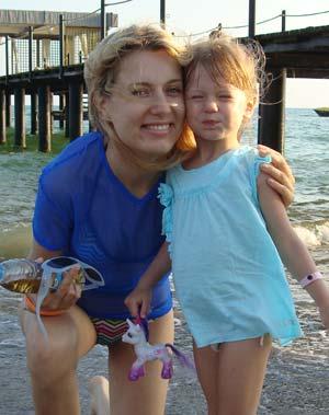 Ольга стремится быть для дочки хорошим примером.