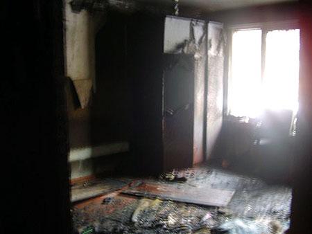 Пожар начался с детской комнаты...