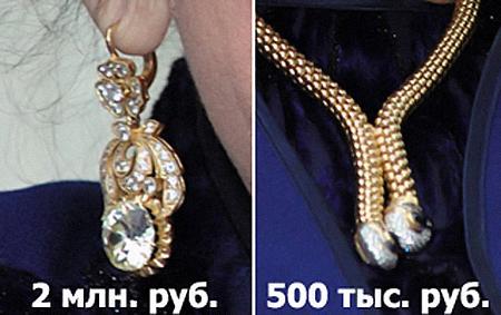 Вот такие украшения, как у Зыкиной (серьги и колье с белыми сапфирами), носила и принцесса Диана.