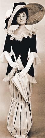 Тонкая фигурка и изысканные наряды Одри Хепберн – предмет подражания дам поколения 60-х.