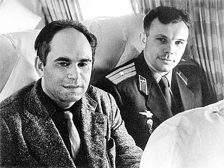 14 апреля 1961 года. Полёт в Москву вместе с Гагариным после окончания его легендарного полёта.