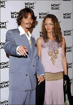 Джонни Депп и Ванесса Паради.
