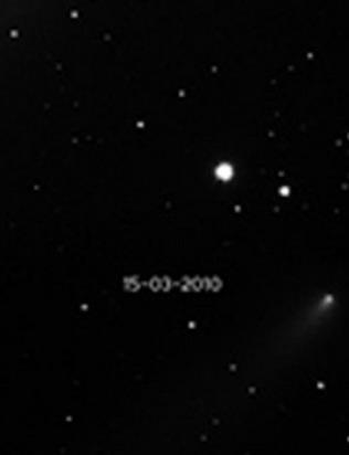Ник снимал комету в свой любительский телескоп. Но не ожидал, какой