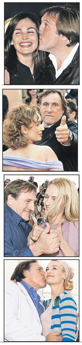 Депардье всегда обожал компанию красивых женщин, а те отвечали ему взаимностью. На этих снимках Жерар в обществе актрис Сандрин Боннэр, Сесиль де Франс, Умы Турман и Инес Састр.