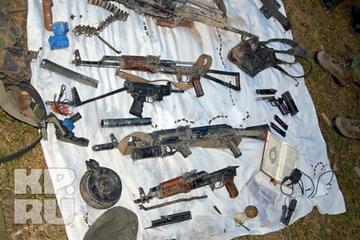 Оружие, захваченное во время спецоперации.