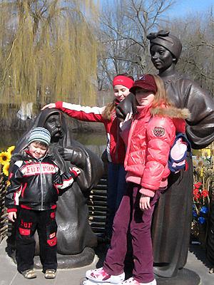 Солоха и Чуб в Миргороде - любимые персонажи.